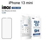 【iMOS】點膠2.5D窄黑邊玻璃保護貼 iPhone 13 mini (5.4吋) 美商康寧