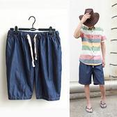 加肥加大寬鬆五分褲超薄款天絲牛仔短褲男夏天大碼沙灘褲潮流休閒  良品鋪子