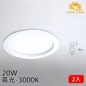 HONEY COMB 大尺寸LED 20W 崁燈 2入一組TK3401-4 自然光