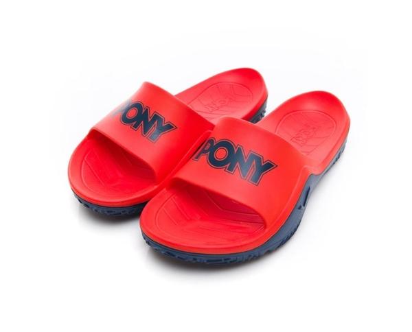PONY 男女款亮橘藍涼拖鞋-NO.92U1FL07OG