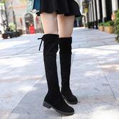 長靴2018秋冬季女式長筒靴子歐美英倫時尚騎士靴圓頭中跟方跟防滑 貝兒鞋櫃