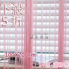 線簾單色素色線簾 100*200cm 窗...