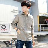 防曬衣男夏季新款韓版潮流修身帥氣夾克超薄款防曬服男士外套 9號潮人館