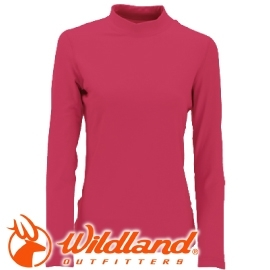 【Wildland 荒野 女款 遠紅外線彈性保暖衣 玫瑰紅】W2651/保暖衣/高領內搭/內搭/內層衣★滿額送