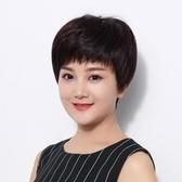 短假髮(真髮)-直髮輕薄透氣熟齡女假髮2色73uu7【時尚巴黎】