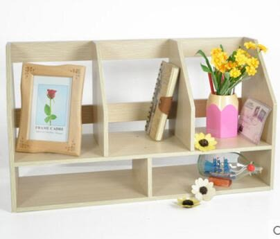 唯妮美案頭簡易小書架創意家居雙層桌上收納架宿舍學生置物架