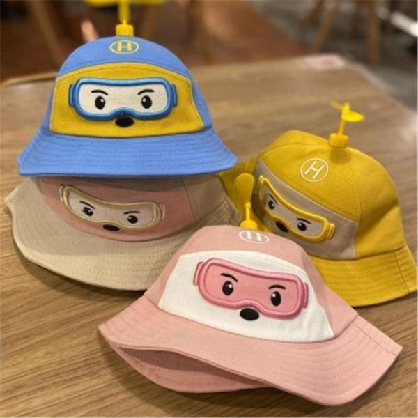 防飛沫兒童帽子寶寶防疫帽嬰幼兒防護漁夫帽小飛俠竹蜻蜓遮陽帽萌 快速出貨