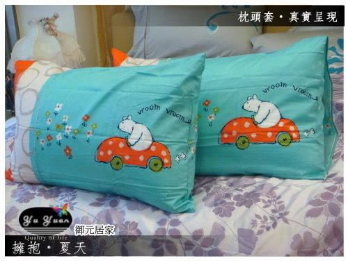 防瞞抗菌【薄床包】6*6.2尺/加大『擁抱夏天』精選精梳棉/三件套