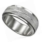 噴砂西德鋼戒指(轉運戒/鈦鋼戒) 《 美規6~11號》