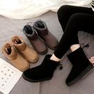 雪地靴女秋冬季韓版百搭學生短筒加絨女流蘇加棉中筒棉鞋