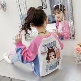 女童秋裝打底衫2019新款童裝兒童純棉春秋T恤中大童長袖體恤衛衣『快速出貨』