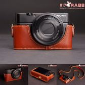 SONY索尼RX100真皮相機包底座RX100皮套半套 手工牛皮   ATF  『魔法鞋櫃』
