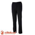 【Wildland 荒野 男款 彈性輕三層防風保暖長褲《黑》】0A52306/彈性透氣/防潑水/吸濕快乾