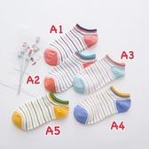 韓版彩色條紋短襪子❤️ 四季百搭款 長襪 短襪 韓妞必備 姊妹情侶襪 宅配免運 阿華有事嗎