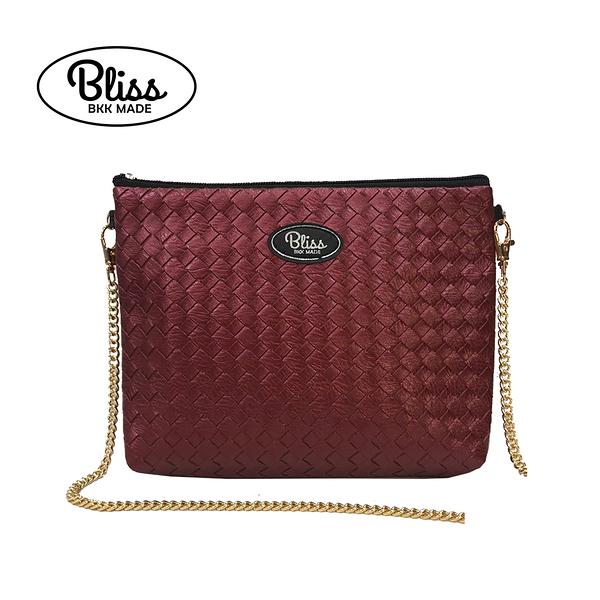 【原廠授權】泰國Bliss BKK包 肩背包 素色編織紋酒紅 4款背帶可選 現貨供應中