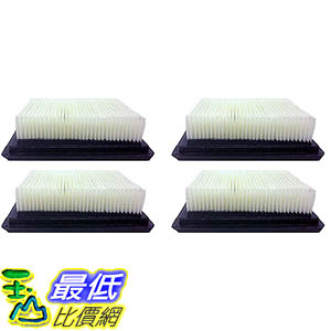 [106美國直購] Crucial Vacuum 4-Pack Washable and Reusable HEPA Filter for Hoover Floor Mate