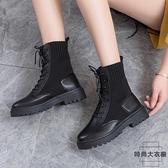 馬丁靴英倫風秋冬百搭加絨女鞋秋鞋潮瘦瘦短靴子【時尚大衣櫥】