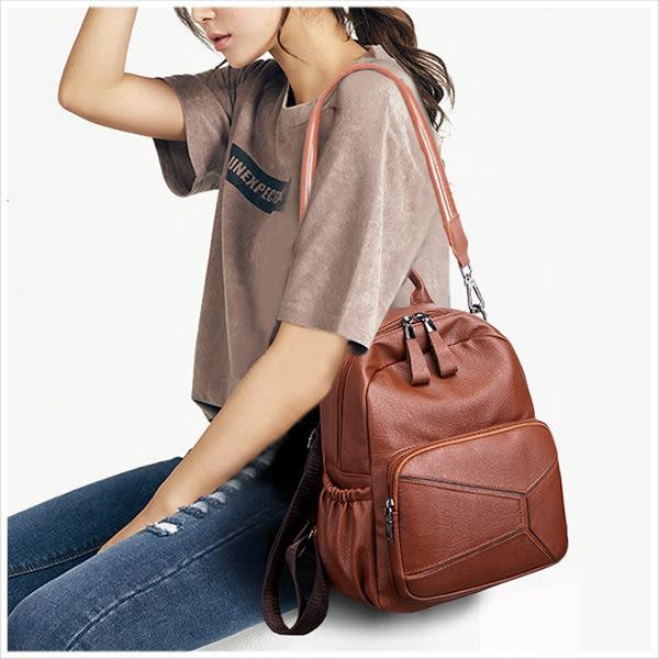 後背包-復古幾何拼接3用後背包-共2色-A12121571-天藍小舖