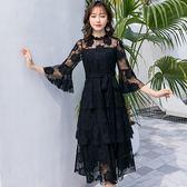 小三衣藏[98755-QF]花邊立領日系腰綁蝴蝶結蛋糕裙擺正式洋裝~ 尾牙晚宴~