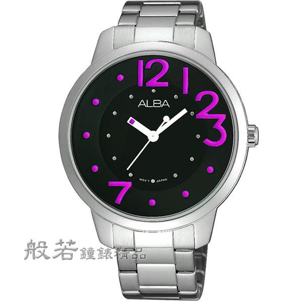 ALBA Fashion Lady 愛戀時尚腕錶-銀x黑