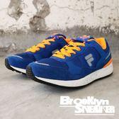 FILA 藍橘 復古 休閒鞋 慢跑鞋 男 (布魯克林) 1J920P364