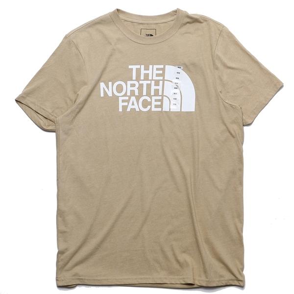 THE NORTH FACE 短T 短袖 卡其 基本款 大LOGO 版型偏大 男 (布魯克林) NF0A4QQ72NM
