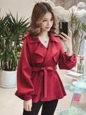秋季新款韓版寬鬆小個子bf上衣休閒風衣短款工裝外套女ins潮 可然精品