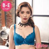 內衣 (台灣製)亮麗色系(B-E)胸挺機能罩杯滿版蕾絲集中單件內衣(藍色)【Daima黛瑪】