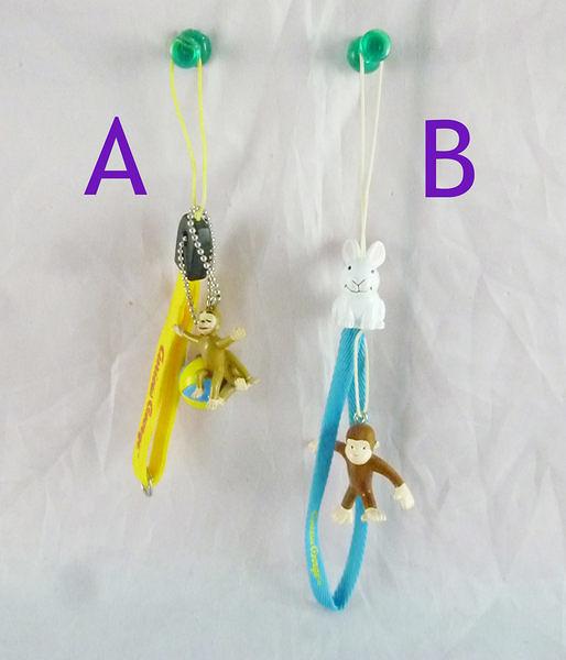【震撼精品百貨】Curious George _好奇的喬治猴 ~手機吊飾-藍繩/黃繩【共2款】