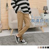高含棉車線設計寬鬆休閒長褲 OrangeBear《BA3603》