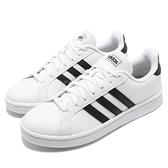 adidas 休閒鞋 Grand Court 白 黑 皮革鞋面 基本款 女鞋 運動鞋 小白鞋【ACS】 F36483