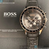 BOSS伯斯男女通用錶42mm古銅色錶面咖啡色錶帶