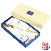【日本製】貓小紋系列 和式贈答禮盒 筷子 筷架 擦面巾三入組 七寶紋貓咪圖案 SD-7030 - 日本製