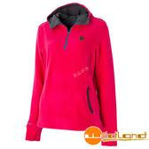 Wildland 荒野 0A52503-26芙蓉紅 女彈性PILE連帽保暖衣 輕量/爬山健行休閒衫/保暖衣