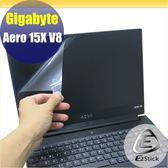 【Ezstick】GIGABYTE Aero 15X V8 靜電式筆電LCD液晶螢幕貼 (可選鏡面或霧面)
