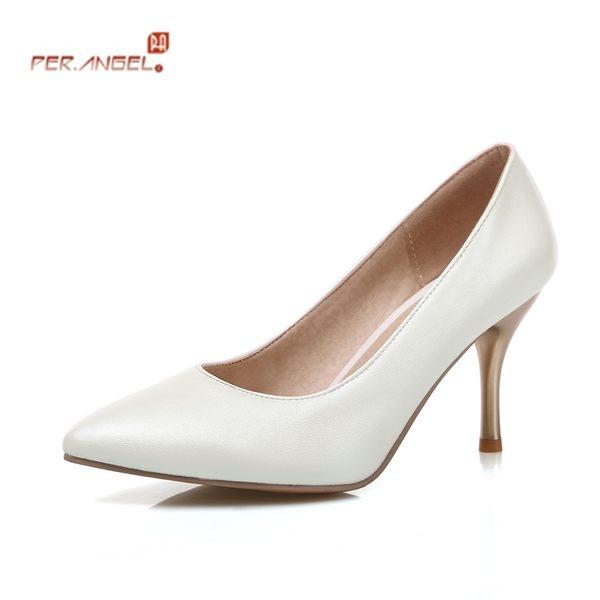 春夏新款性感細跟高跟鞋時尚尖頭女鞋高跟單鞋女式皮鞋工作鞋大碼