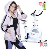 送運動水壺/輝葉 創飛輪健身車HY-20151(Triple傳動系統)-風暴白