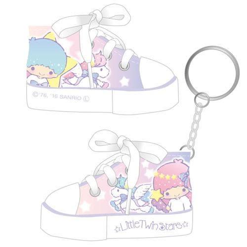 日本直送 雙子星 KiKiLaLa  可愛帆布鞋鑰匙圈  粉色款 該該貝比日本精品 ☆