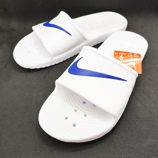 Nike 防水拖鞋 白底藍勾 832528-100 Kawa Shower Slide 單勾   OS小舖
