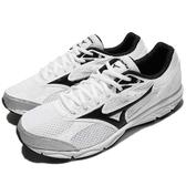 Mizuno 慢跑鞋 Maximizer 20 白 黑 基本款 男鞋 運動鞋【PUMP306】 K1GA1800-10