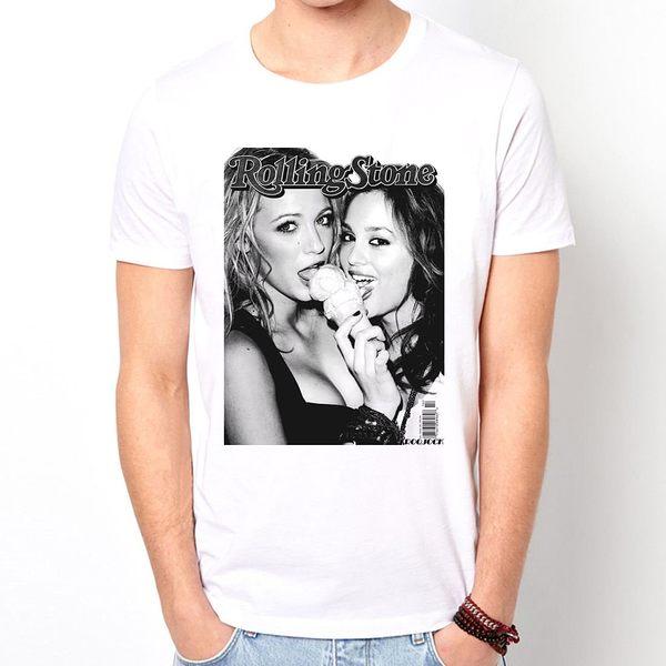 GOSSIP GIRL短袖T恤-白色 花邊教主XOXO人物電影電視紐約潮流情色樂團玩翻