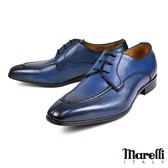 【Marelli】時尚U-tip紳士鞋 藍色(801-NAVY)