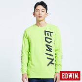 EDWIN EFS LOGO座標薄長袖T恤-男款 青綠色