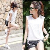 瑜伽服套裝女速干健身房運動韓國夏季性感跑步短褲寬鬆健身服顯瘦