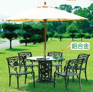 【南洋風休閒傢俱】戶外鋁合金桌椅系列- 玫瑰扶手椅 鋁合金 戶外休閒餐桌椅 (595-1)