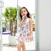 兒童泳衣-新款女童泳衣大中小童韓國兒童泳衣女孩連身裙式平角溫泉泳衣