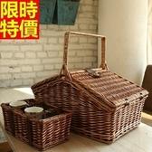 野餐籃 餐具組合-外出收納儲物二人份郊遊用品68e39[時尚巴黎]