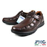 【IMAC】義大利透氣牛皮氣墊休閒涼鞋  咖啡(70400-BR)