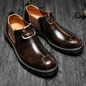 大頭鞋 男鞋冬季加絨棉鞋潮流休閒皮鞋男英倫風男士大頭韓版商務正裝【寶媽優品】