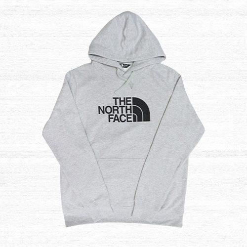 *The North Face TNF 帽T 經典LOGO 棉質 淺灰色 黑字 北臉 男版 NF0A3VHCGAU